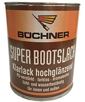 Büchner Superbootslack/Klarlack, hochglänzend, 250 ml, PU Verstärkt