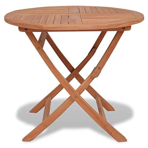 FAMIROSA Folding Garden Table 85x76 cm Solid Teak Wood