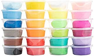 Plasticine Air Dry Clay Set - 24pcs Ultra Light Modeling Clay Slime Non-toxic Blocks Magic Clay Plasticine for Adults and ...