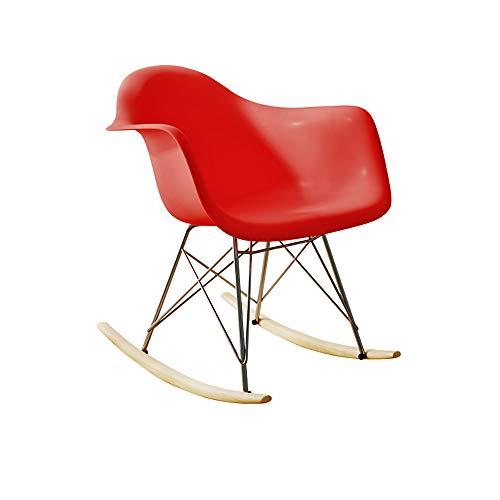 WCURT, Silla Mecedora para Adultos, Mecedora de Ocio Mecedora, sillón, sillón de Ocio, Silla Mecedora Retro, Asiento de PP, Mecedora