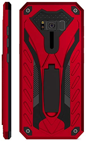 Kitoo Designed for Samsung Galaxy S8 Case with Kickstand, Military Grade 12ft. Drop Tested - Red