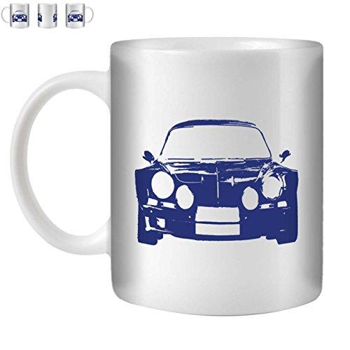 Stuff4 Tasse de Café/Thé 350ml/Bleu/A110/Céramique Blanche/ST10