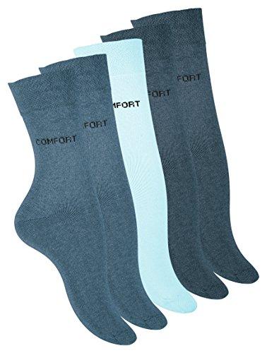 VCA 10 Paar Damen Baumwoll Socken mit dezentem COMFORT Schriftzug, Baumwolle mit Elasthan, Gr. 35/38