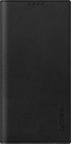 【araree】 Galaxy Note20 Ultra 5G 対応 ケース 手帳型 携帯ケース 薄型 スリム 手帳 レザー カバー ベルト/マグネット フラップ なし カード 収納 付 [ Samsung Galaxy Note 20 Ultra SCG06 ギャラクシーノート20ウルトラ 対応 ] Mustang Diary ブラック