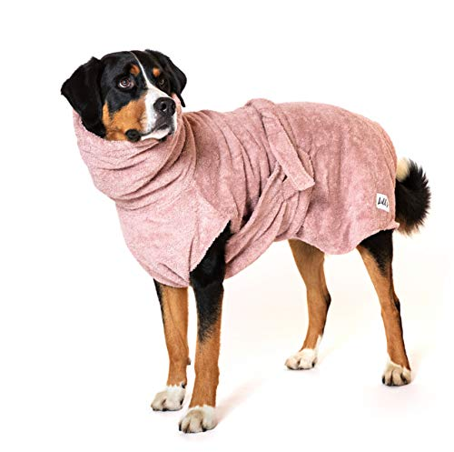 Lill's Hundebademantel, 100% Bio-Baumwolle, Organic Pinkberry (Rosa/Pink) (XXL)