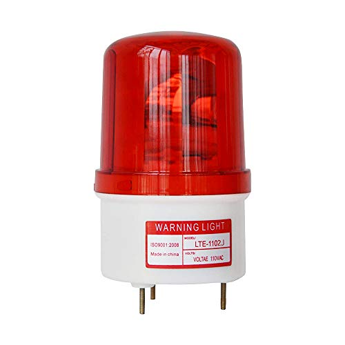 LTE-1102J AC110V Revolving Warning Light with Sound Alarm Emergency Industrial Warning Light with Bolt Bottom