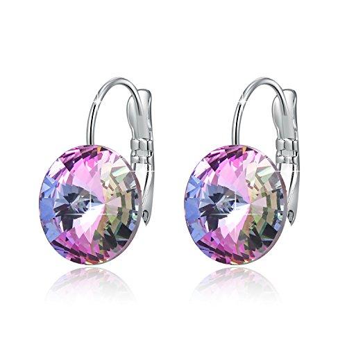 pas cher un bon Boucles d'oreilles Swarovski Cadeaux de Noël Mode féminine Pierre de naissance en cristal charmant…