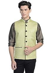 Wintage Mens Rayon Nehru Jacket Waistcoat
