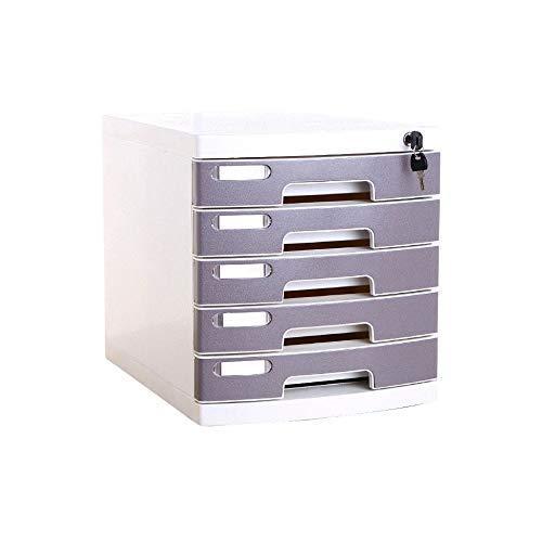 KANJJ-YU Archivo del gabinete de Escritorio de 5 Capas, Unidad de Almacenamiento Organizador de cajón con Cerradura Clasificador A4 for taquilla (Tamaño: Medio 5-Layers) Oficina