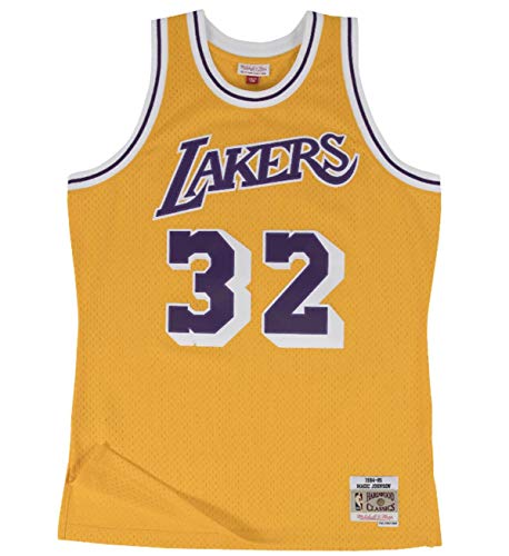 Mitchell & Ness Los Angeles Lakers Magic Johnson 1984 Home Swingman Jersey (X-Large)