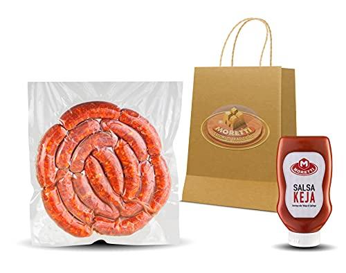 Moretti® Salsiccia Fresca Da Cuocere | Con Peperoncino Calabrese Piccante | 1,5Kg - 3kg Sottovuoto | In Omaggio Salsa KEYA | Ketchup alla Nduja di Spilinga | (3kg Piccante)