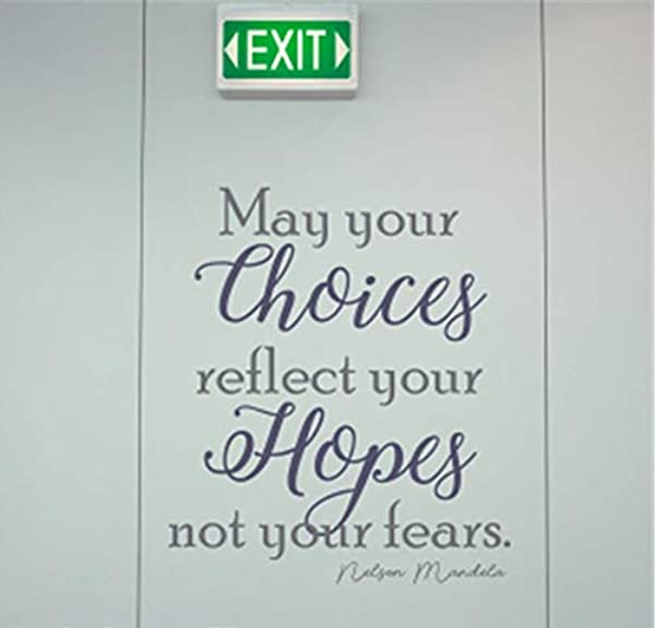 Uertyz Removable Vinyl Decal Art Mural Home Decor Wall Stickers May Your Choices Reflect Your Hopes Not Your Fears For Nursery Kid Room Child