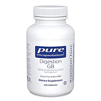 Pure Encapsulations Digestion GB   Digestive Enzyme Supplement to Support Gall Bladder and Digestion of Fat Carbohydrates and Protein*   180 Capsules