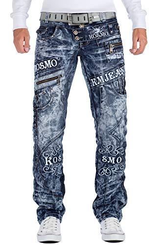 Kosmo Lupo Herren Jeans KM051 Blau W32/L32