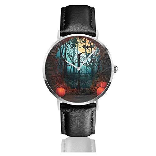Noche de Halloween (1) Reloj de Pulsera Temporizador Deportes Adolescentes Estudiantes Reloj de Cuarzo con Pilas de 38 mm de diámetro