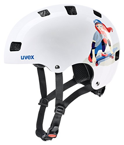 Uvex Kinder Kid 3 Fahrradhelm, white skate, 51-55 cm