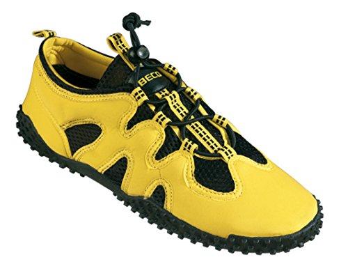 BECO Badeschuhe Aqua Schuhe Surfschuhe Sneaker Beach Schuhe Gr 36 gelb