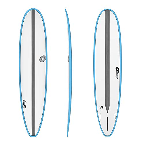TORQ Tabla de surf Epoxy TET CS 8.6 Longboard Carbon Blue Malibu