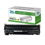 InkJello Cartucho de tóner Compatible para HP Laserjet Pro M1132 MFP M1212nf M1214nfh M1217nfw P1100 P1102 P1102w P1104 P1104w CE285A/CRG-725 (Negro)
