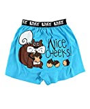 Lazy One Funny Animal Boxers, Novelty Boxer Shorts, Humorous Underwear, Gag Gifts for Men, Nature, Squirrel, Bum, Nuts (Nice Cheeks, Medium)