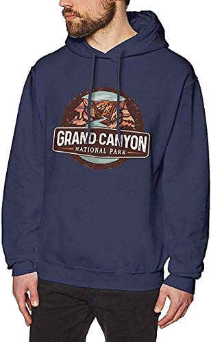 Homme Sweats à Capuche, Sweat-Shirt à Capuche, Mens Hooded Sweatshirt Grand Canyon National Park Fashion Hoodie Pullover Black Navy
