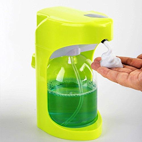 XUE- / Distributeur automatique de savon en mousse, activation sans toucher avec commandes de mousse ajustable Capacité de 500ML pour la cuisine (vert)