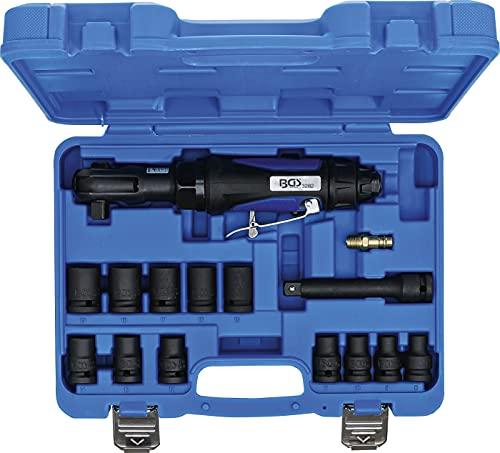 BGS technic BGS 70192   Druckluft-Ratschenschrauber-Satz   14-tlg.   12,5 mm (1/2')   102 Nm   links- und rechtsdrehend   mit Kugelsicherung