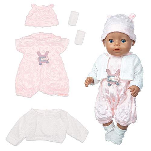 """ZEEREE Ropa para Muñecos Bebé New Born Baby Doll, Trajes 17-18 """"Ropa de Muñecas para Bebés (40-45 cm)"""
