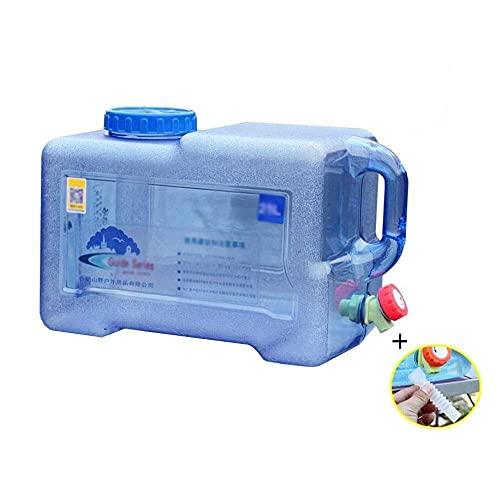 KDMB Recipiente de Agua de Cubo portátil Tanque de Almacenamiento de Agua de plástico con Grifo Recipiente de Agua para automóvil al Aire Libre Tanque de Agua para Acampar Tamaño: 12L