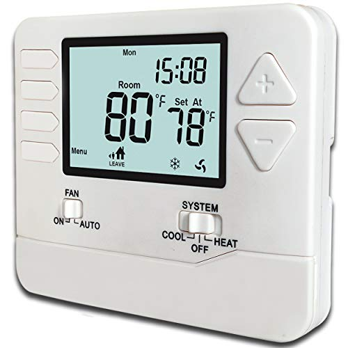 Heagstat H705 5-1-1-Day Single Stage Programmable Thermostat,1 Heat/1 Cool, with 4.5 sq. Inch Display