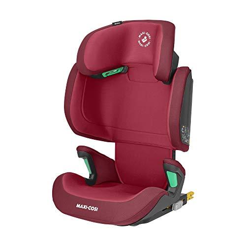 Maxi-Cosi Morion i-Size, mitwachsender Kindersitz mit ISOFIX, Gruppe 2/3 Autositz (ca. 100-150 cm / 15-36 kg), nutzbar ab ca. 3,5 Jahre bis ca. 12 Jahre, basic red