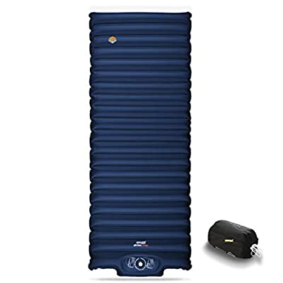 ZOOOBELIVES Extra Thickness   Wide Plus Sleeping Pad with Built-in Pump, Inflatable Camping Mattress of Ultimate Comfort for Car Camping, Tent, and Backpacking, Lightweight & Compact – Airlive2000P