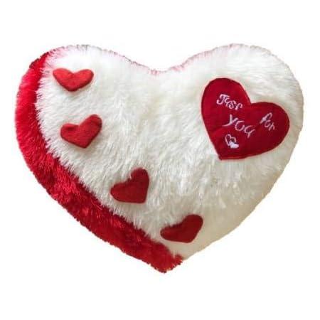 Frantic Plush Cushion Heart Love Pillow (White Red 2020)