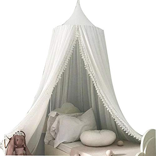Inchant Auvent de lit suspendu moustiquaire pour lit de bébé Nook Castle Game Tent Nursery Play Room-Grey
