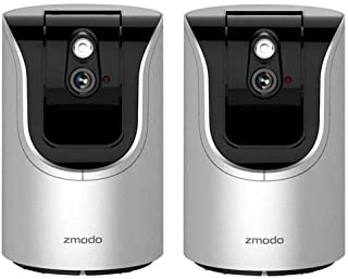 Zmodo 2 Pack ZH-IZV15-WAC 720p HD Pan & Tilt Smart Wi-Fi Home Camera with 2-Way Audio
