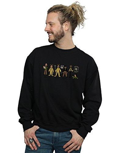Absolute Cult Alex Chenery Herren Heisenberg Doodle Sweatshirt Schwarz Medium