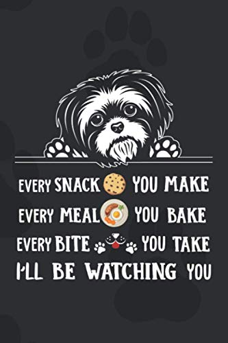 I'll Be Watching You: 110 Blank Lined Papers - 6x9 Personalized Customized Shih Tzu Notebook Journal Gift For Shih Tzu Puppy Owners and Dog Lovers