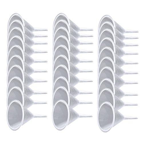 joyMerit Venta Al por Mayor 30pcs Mini Embudos De Plástico para El Llenado De Aceites Esenciales Líquidos Difusor De Herramientas De Cocina para El Hogar A La