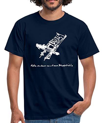 Schwedenstuhl Klappstuhl Sommer Sonnen Camping Entspannung Männer T-Shirt, XXL, Navy