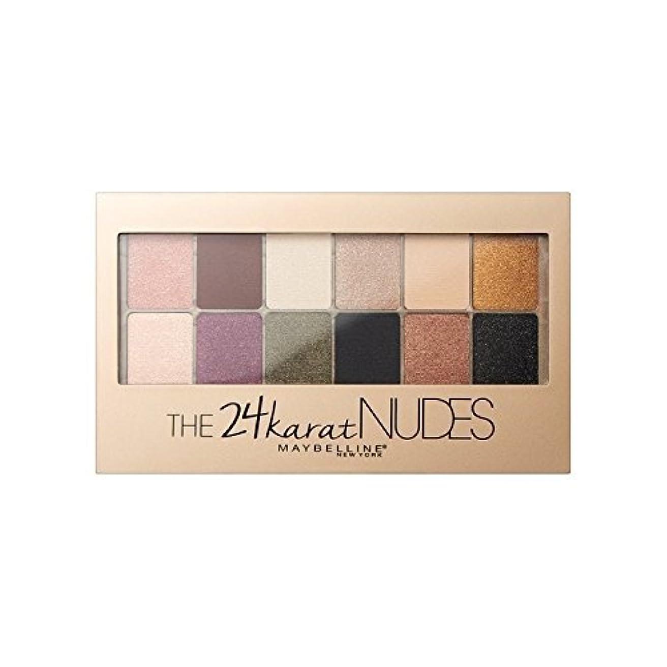 Maybelline 24 Karat Nudes Eye Shadow Palette (Pack of 6) - メイベリン24カラットヌードアイシャドウパレット x6 [並行輸入品]