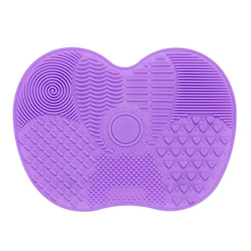 XTR Foundation Makeup Brush Scrubber Board Silicone Makeup Brush Cleaner Pad Make Up Washing Brush Gel Cleaning Mat Hand Tool, 04