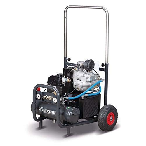ACS B&S Trolly - Compresor de tornillos (3,7-10-7, con accionamiento de gasolina, para uso móvil