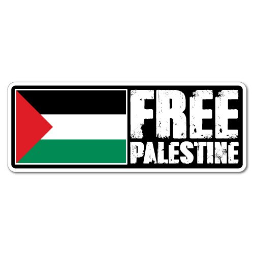 Free Palestine Sticker Flag Bumper Water Proof Vinyl