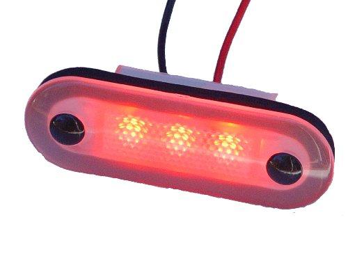 Aqua Signal 3 LED Accent et Courtois lumière, 16403-7, Red