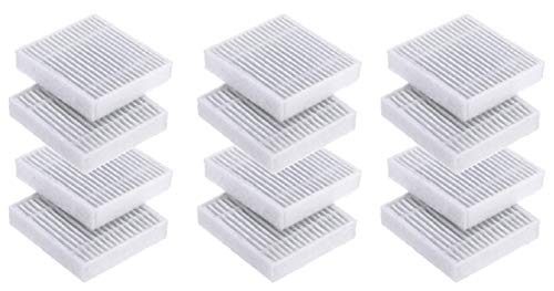 Nispira Replacement HEPA Filter Compatible with Housmile Anti-Mite UV Vacuum Cleaner Model HO-804WE, 12 Packs