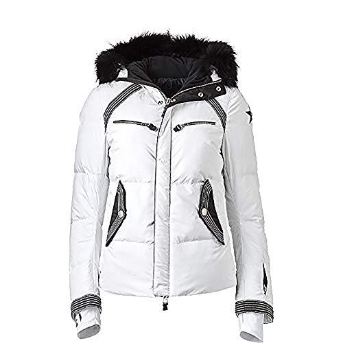 Jet Set Skijacke Liv Stitch Fur für Damen (schwarz/weiß)-40