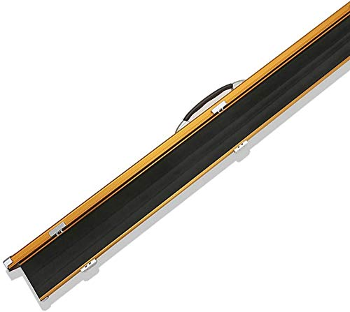 WEHOLY 150cm Snooker Cue Case, 3 Compartment One 1 Piece Pool Cue Case Slimline Aluminium Case Holds 2 Cue Pool Cue