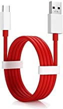 Mysail Type C USB Data Charging Cable Compatible with One Plus 5/5T/3/3T and All TypeC Supported Smartphones (Red and White)