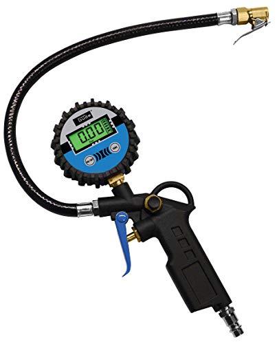 Güde 2823 Digital Reifenfüller 11 E (4-stellige Digitalanzeige, Automatikabschaltung, Anschlussnippel, Luftablassventil)