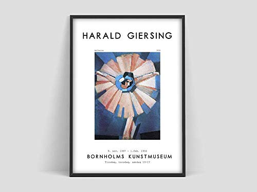 Póster de bailarina de Harald Giersing, impresión de Harald giersing, póster escandinavo, lienzo decorativo sin marco familiar S 20x30cm